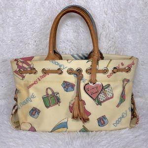 rare dooney & bourke beach themed purse